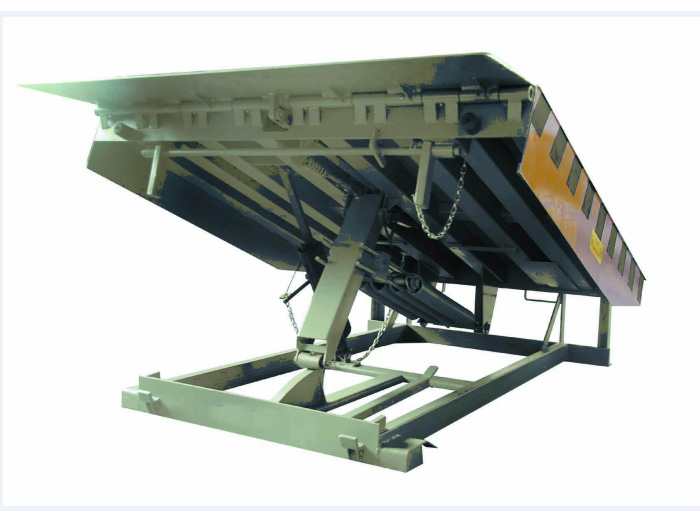 Mechanical loading dock leveler