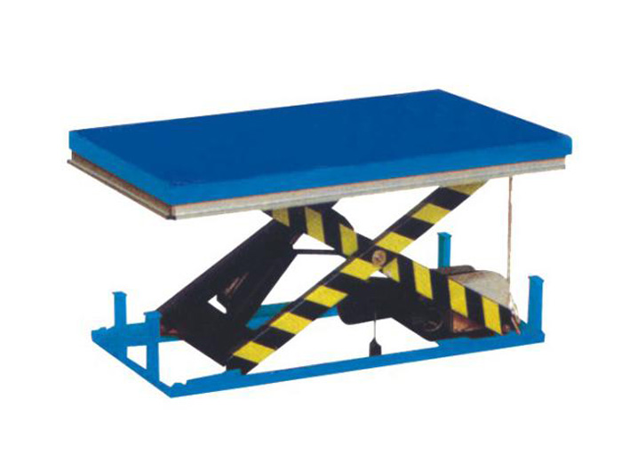 Stationary scissor lift platforms